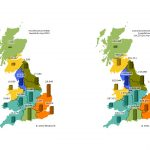 Map of UK regions showing smart meter installs both for April 2021 and cumulative
